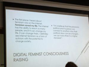 digital feminist consciousness raising